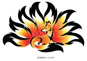 Fireflower Kitsune by RHPotter