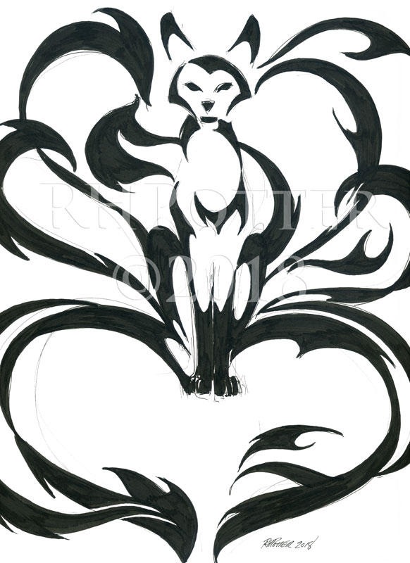 Heart Kitsune by RHPotter
