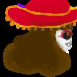 Watercolor Skeleton OC by Plumcicle