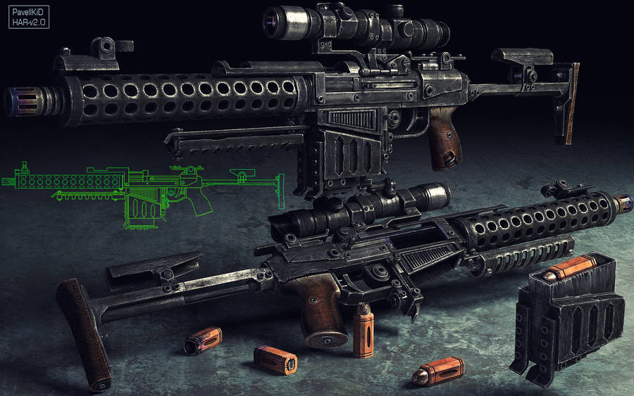 heavy assault rifle by PavellKiD