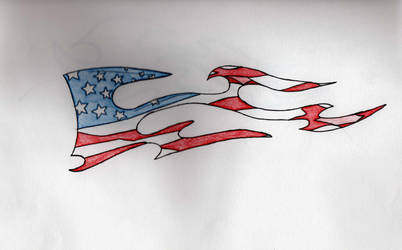 American Flag Tattoo by mks1011