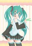 Vocaloid - Miku Hatsune Poster by Kawaii-Dream