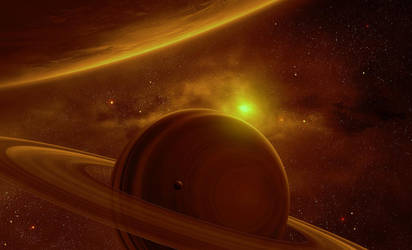 Calm Saturn View by QAuZ