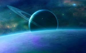 Untitled Space Scene by QAuZ