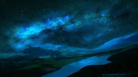 Blue Stars Night by QAuZ