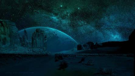 Bright Night SKy by QAuZ