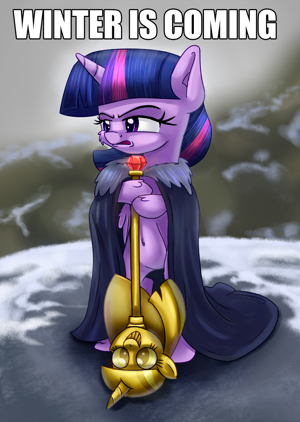 Brace yourselves captioned by thediscorded
