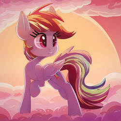 Rainbow at sunset by thediscorded