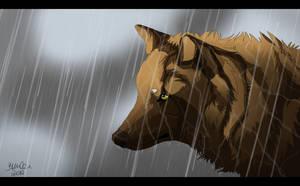 Alone in the rain by Alukei