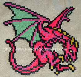 Perler Bead FF3 Magic Dragon by pinkdramon