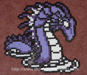 Perler Bead FF2 Sea Dragon by pinkdramon