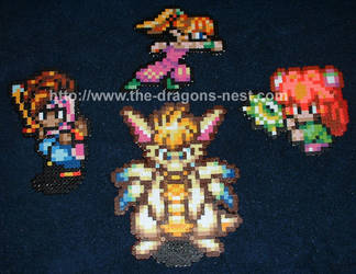 Perler Bead Secret of Mana Ppl by pinkdramon