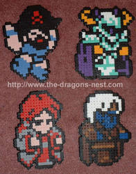 Perler Bead Nuklear Power Crew by pinkdramon