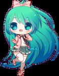 FREE Ribbon Girl Miku Pagedoll by rimuu