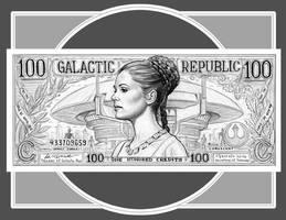 PRINCESS LEIA Republic Credits by GOODGIRLART