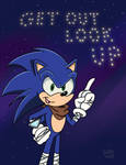 Sonic Says Get Up, Look Out! by SlySonic