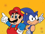 Mario and Sonic Team Up! by SlySonic