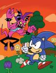 The Blue Blur vs the Renegade Rocker! by SlySonic