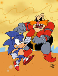 Sonic v Robotnik: The Fast and the Moustached by SlySonic