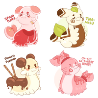 Sweet Treat Pacapillars ~ Closed! by Chiki-nan