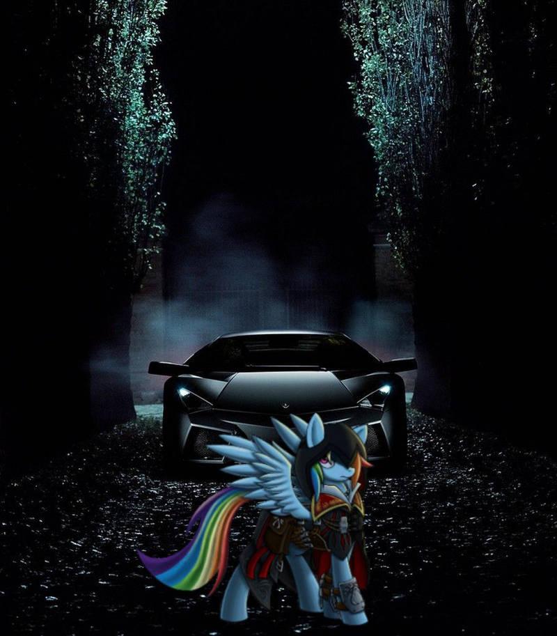 Lamborghini Reventon Assassin S Creed Rainbow Dash By Blackhawk8 On