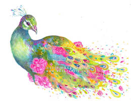 Peacock Flora by MonaParvin