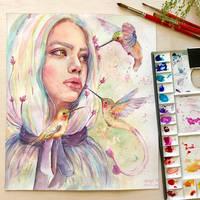 Whisper Of Hummingbirds by MonaParvin