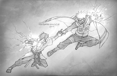 Sasuke VS Kakashi by KejaBlank