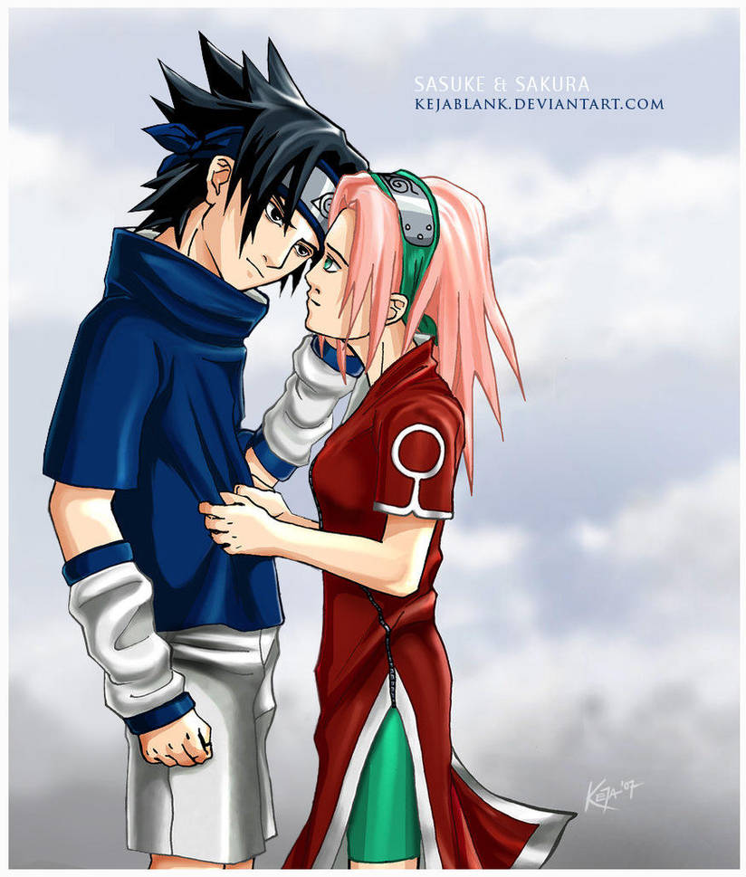Sasuke and Sakura by KejaBlank