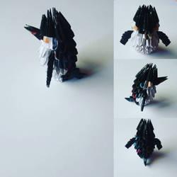 Emperor penguin origami  by marakiO