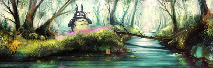 Totoro's secret glade by Mattiasedstrom