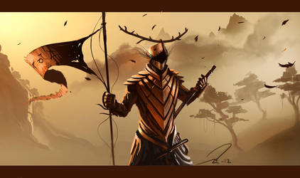Character design - Samurai by Mattiasedstrom