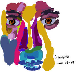 5 minute Colour Study: Face! by ExudeArt