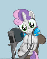Sweetie Belle is recording stuffs by SolarSourced