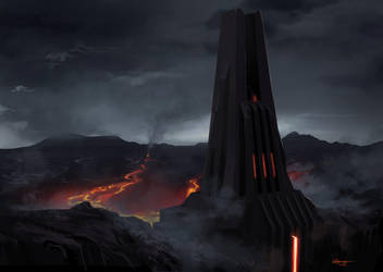 Darth Vader base on mustafar by mistermat05