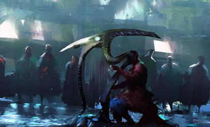 Harp Player Speedpainting by erenarik