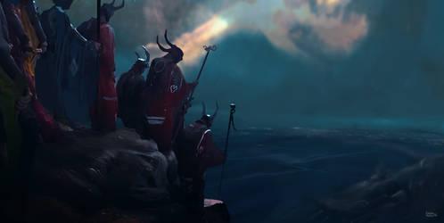 Monks of the golden horn by erenarik
