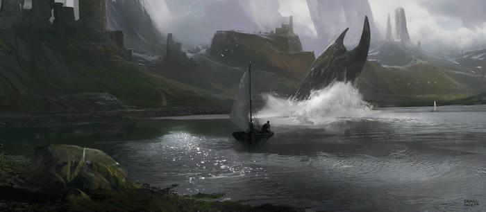 Monster of Castle lake by erenarik