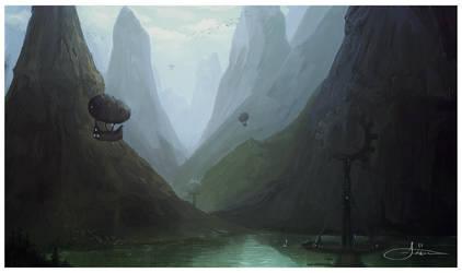 laketower finished sketch by erenarik