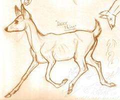 Trotting Deer by rheall