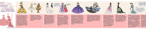Timeline of Historical Fashion 1770 - 1900 by rheall