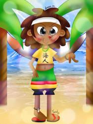 Yunta on the beach [Pop'n Music] by JennALT-01angel