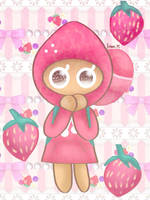 Shy Strawberry [Cookie Run] by JennALT-01angel