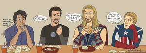 Avengers: The one about shawarma by Phageous
