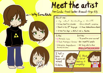 Meet the Artist by WhyIamaPotato