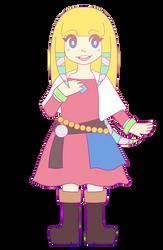 Skyward Sword Zelda Smiling by WhyIamaPotato