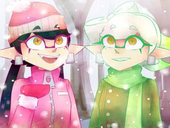Snow Callie and Marie by WhyIamaPotato