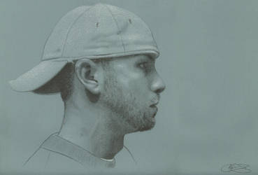 Self Portrait on Tinted Paper by golfiscool