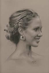 Jessica Alba Pencil Portrait by golfiscool