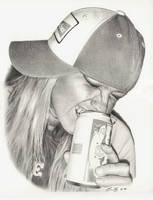Budwiser Dani Drawing by golfiscool